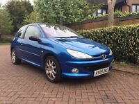 Peugeot 206 1.6 HDi GTi 3Dr Diesel, Manual, New MOT, New Turbo,Air Con,Alarm, Radio/CD Autochanger