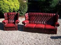 FREE to uplift...chesterfield sofa and chair