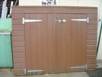 SMALL SHED FRONT / 2 DOORS HINGES ETC. ONLY £10