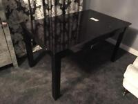 Next Black Gloss extending table Brand new with film on! £185 ovno!