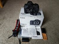 Canon EOS 7D MK2 in mint condition low shutter count boxed with all accessories and 3 batteries