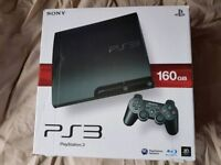 Sony PS3 PlayStation3 160GB Slim Console DualShock Wireless extra Controller in excellent condition
