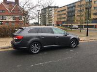 62 reg 2012 toyota avensis estate 2.0 d4d diesel manua, met grey, 1owner, only 70k f/s/h, hpi clear