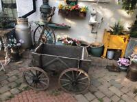 antique vintage wood wooden dog cart garden wedding shop ornament prop