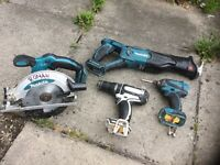 Makita 18v set impact drill saw