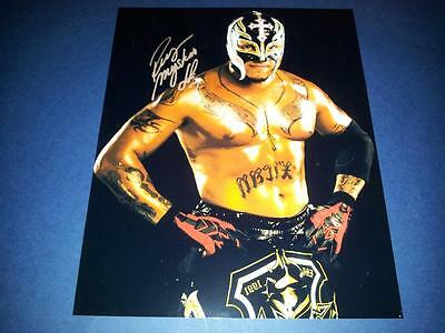 "REY MYSTERIO PP SIGNED 10""X8"" PHOTO REPRO TNA WWE WRESTLING"