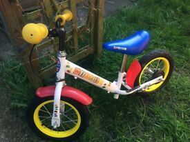 Balance bike suitable for 2-4 year old in good condition