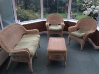 4 Piece Set of Wicker Conservatory Furniture