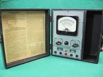 Hickok 133b Tester Meter Tubes Vintage Radio Electronics Parts Repair