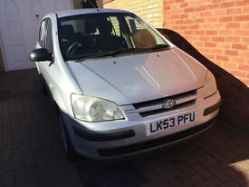 Hyundai Getz 1.5 Diesel, 5 door, 2004 MOT June 17. EW, PAS. Excellent and reliable car