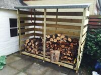 Log store for fire wood