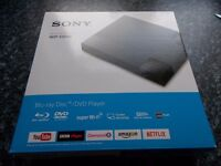 brand new-unwanted gift....in box,open once..never used! sony blu-ray/dvd player..£55
