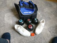 BOWLS SHOES BAG GREAT CONDITION