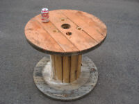 Wooden Reclaimed Industrial Cable Reel/Drum,Table, 70cmx60 cm Upcycled/Craft project.
