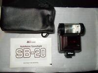 Nikon Speedlight SB-20 Shoe mount Flash