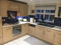 Kitchen for sale; £500 ono - Beech effect and Cream worktops; being replaced