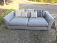 New DFS Signature Large Grey Sofa Retail £1000+