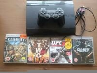 For sale ps3 with one controller and 4 games bargain