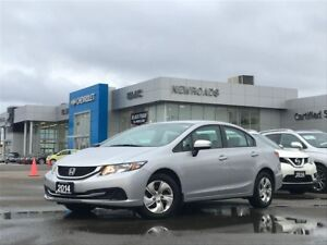 2014 Honda Civic LX LX, PWR GRP, LOW KM'S, ONE OWNER, NO ACCI...