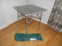 aluminium roll top camping table