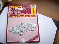 HAYNES MANUAL FOR NISSAN BLUEBIRD