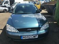 2002 FORD MONDEO LX 16V (MANUAL PETROL)FOR PARTS ONLY