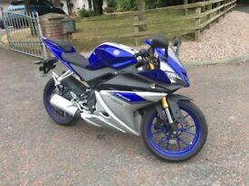 2015 Yamaha 125cc motorcycle