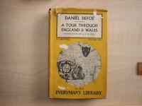 Tour through England and Wales volumes 1 & 2 Daniel Defoe. J.M. Dent 1959