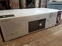 Cooke & Lewis black composite sink and drainer BRAND NEW IN BOX.