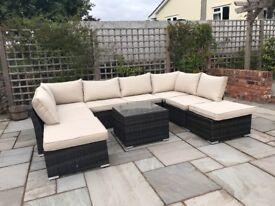 Paris Rattan Weave Modular Sofa Set Outdoor Garden Furniture / Conservatory Patio Furniture