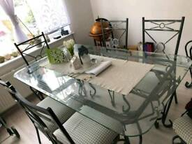 Dinning table +6 chairs and display cabinet