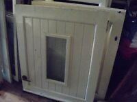 """wood stable door 32"""" 3/4 x 78"""" painted white £45 with locks coventry OPEN THIS WEEK END"""