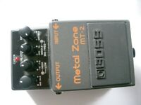 BOSS by Roland MT-2 metal Zone stompbox/pedal/effects unit for electric guitar - 2002 - Taiwan