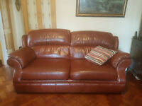 Leather sofa from Marks and Spencer Approx 200cm wide, 90cm deep and 100cm high