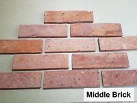 Brick slips, cladding, wall tiles