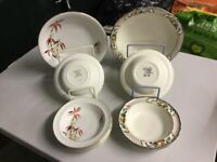 2 Vintage China Fruit sets. One 1930s with 4 small bowls One 1950s with 5 small bowls. V.G.C