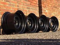 Banded steel wheels, Vauxhall Combo, Honda civic 4x100 14inch, deep dish wheels