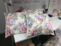 Three handmade cushions