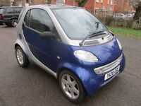 2001 SMART CAR 600cc PULSE TURBO SEMI-AUTO LEFT HAND DRIVE FULL MOT LOW 73K PANARAMIC ROOF PX SWAPS