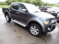 2007 57 MITSUBISHI L200 WARRIOR GREY , 3 MONTHS WARRANTY , NEW £3000 ENGINE , FREE UK DELIVERY