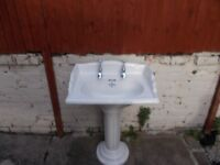 basin and ped with taps, corner basin with brackets, draw unit with basin but no tap
