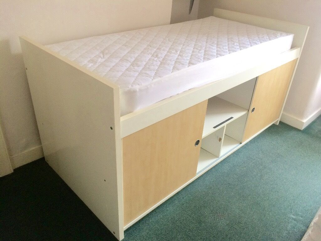 ikea bangsund storage bed white with mattress in crouch end london gumtree. Black Bedroom Furniture Sets. Home Design Ideas