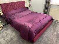 King Size Velvet Diamonte Bed (MATTRESS NOT INCLUDED)