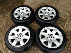 BMW ALLU WHEELS AND TYRES FIT INTO E36 OR E46 3 SERIES 205/55 R16