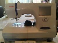 Janome 300e Embroidery machine with accessories