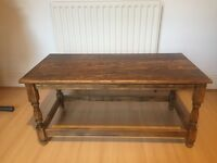 Antique oak coffee table - good condition
