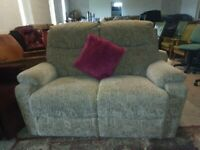 Small Fabric sofa settee 2 seater Highback Deliv Poss HSL