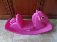 Little Tikes child's pink rocking horse / rocker - Collection from Brierley DY5 area