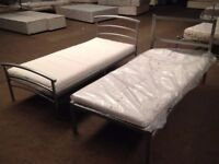 Steel Single Beds with New Mattress