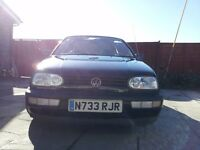 VOLKSWAGEN GOLF CONVERTIBLE 1996...MOT 11.august 2017 reduced price...